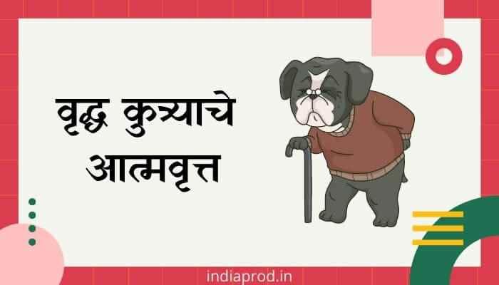 वृद्ध कुत्र्याचे आत्मवृत्त मराठी निबंध Vrudha Kutryache Atmavrutt Marathi Essay